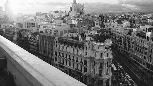 Stad Madrid in Spanje