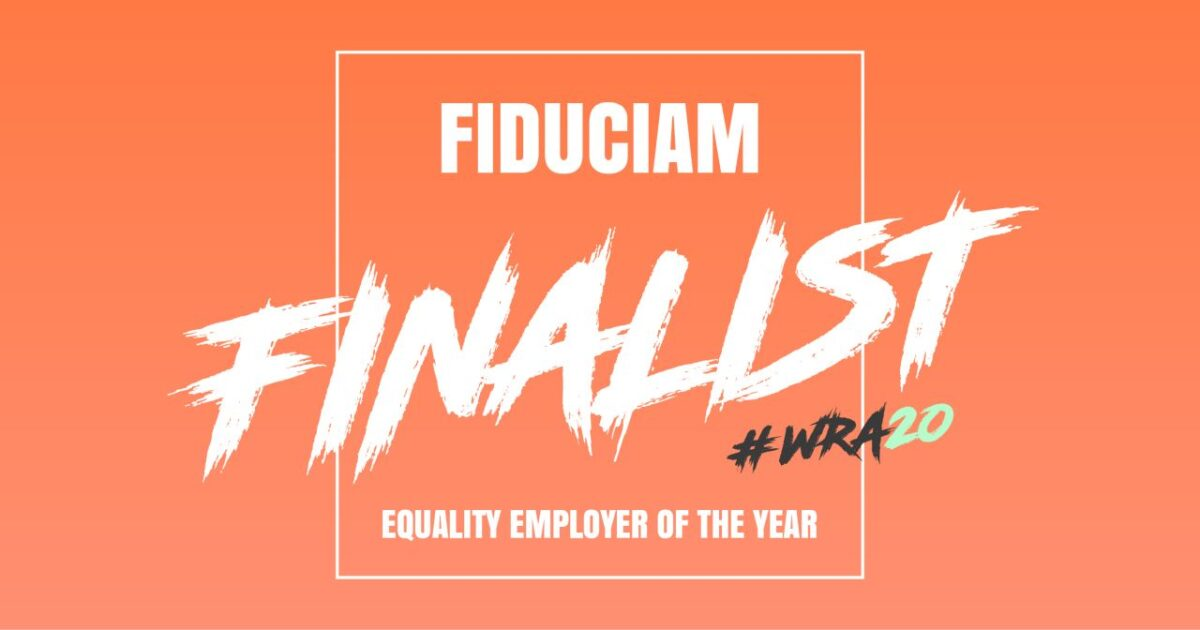 "Fiduciam genomineerd voor ""Equality Employer of the Year"" Award"